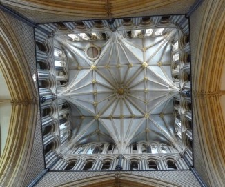 Looking up in Lincoln Cathedral